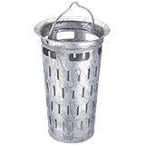 Slit bucket DIN 4052-A4 for road gully buckets