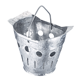 Slit bucket DIN 4052-D1 for longitudinal attachment