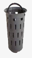 Slit bucket similar to DIN 1236 for yard drains, high design, with foot edge