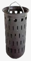 Slit bucket similar to DIN 4052 shape A for street drains, high design, with foot edge