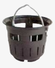 Slit bucket similar to DIN 4052 shape B for street drains, low design, with foot edge